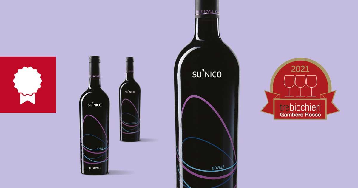 Il Su'Nico Bovale Porta A Casa Per La Seconda Volta I Tre Bicchieri Del Gambero Rosso.